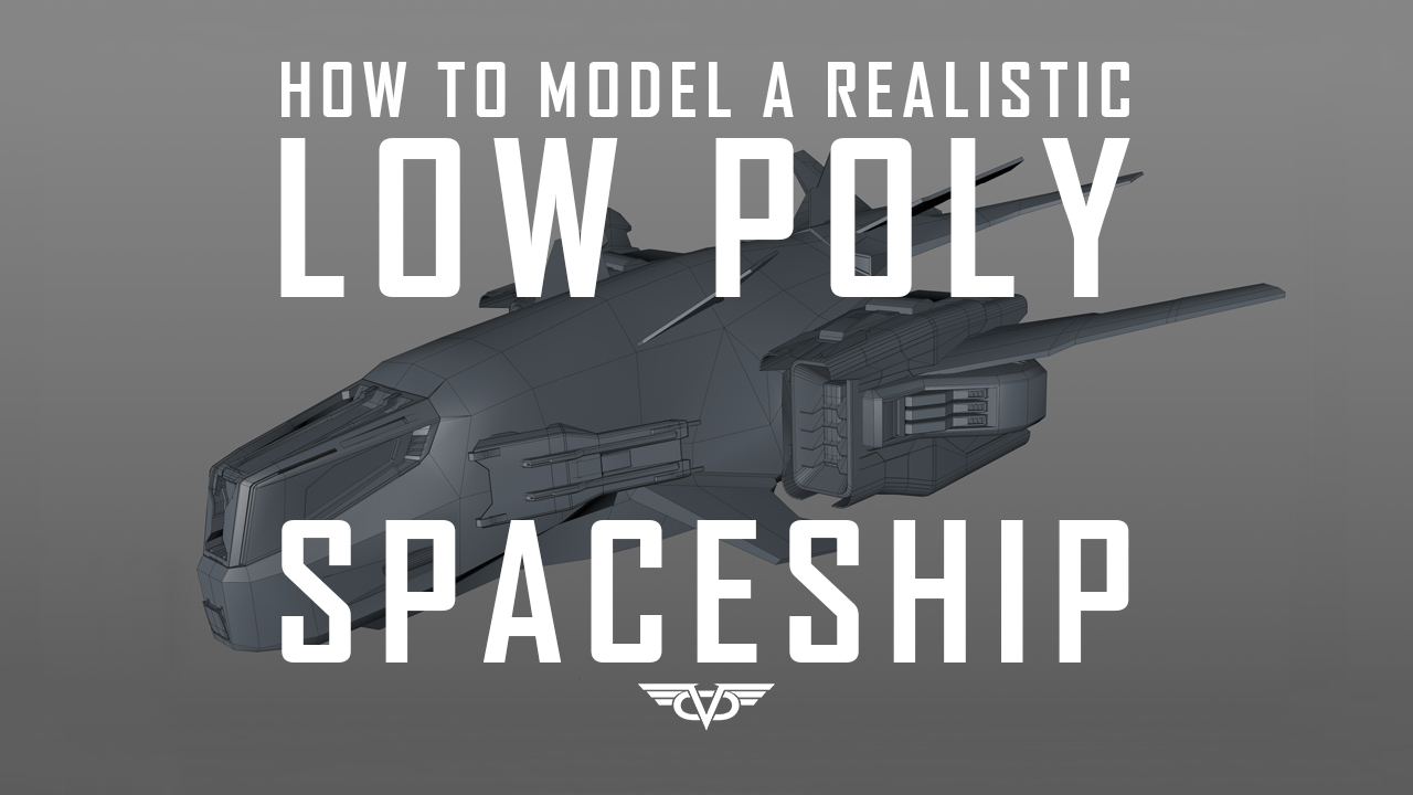 How to model low poly spaceship