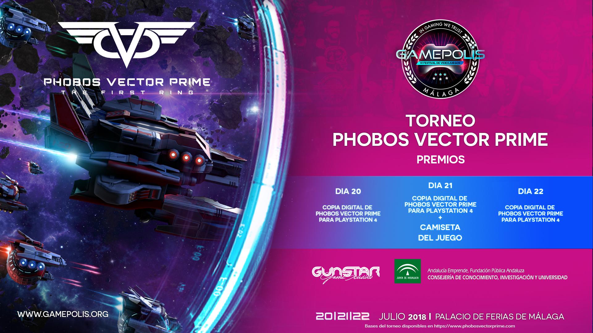 Cartel Torneo Gamepolis 2018 - Phobos Vector Prime